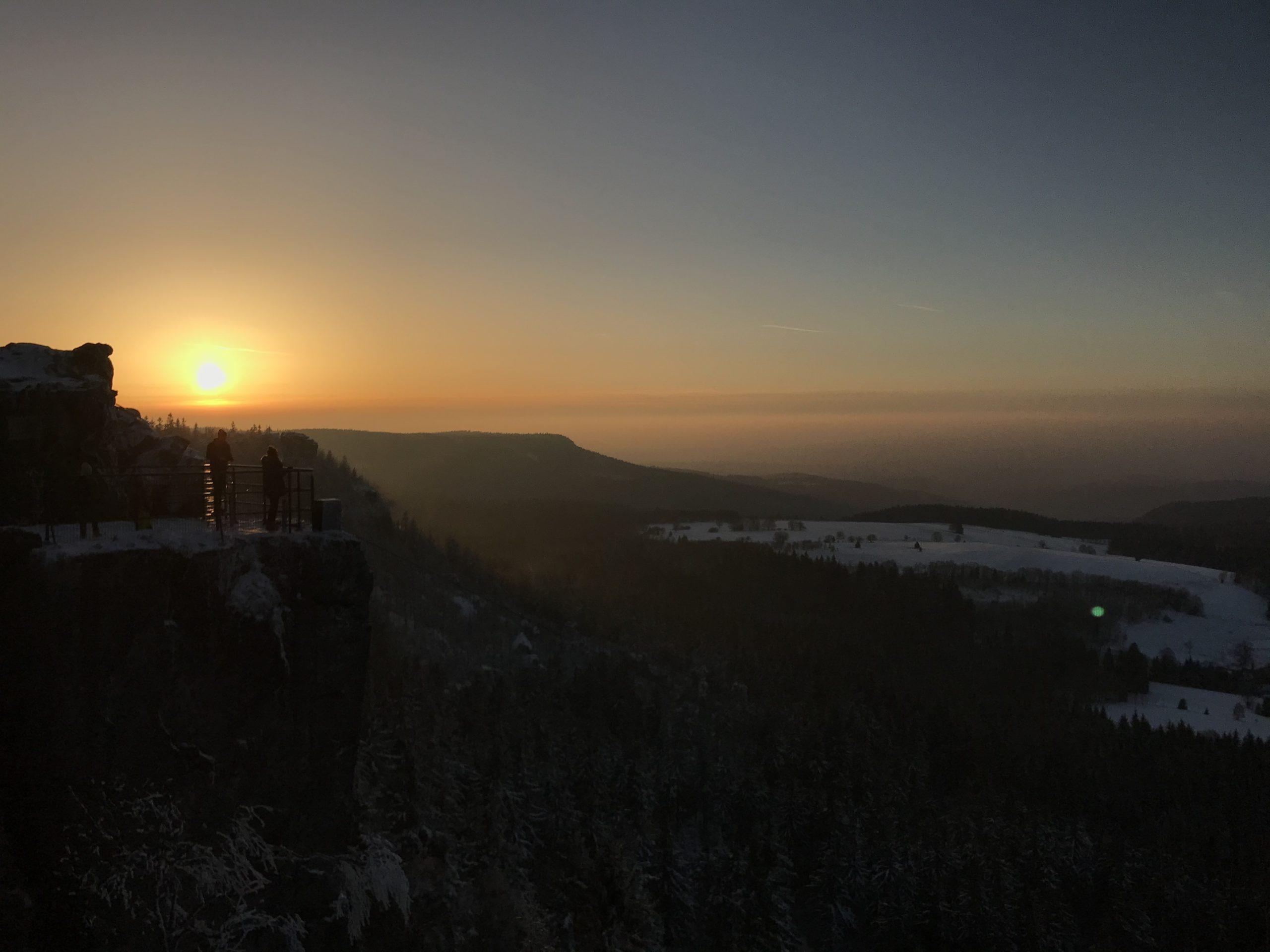 zachód słońca Szczeliniec