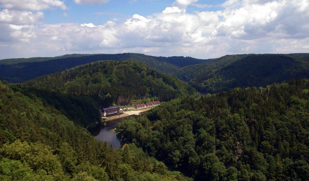 jezioro Lubachowskie, i most wiszący