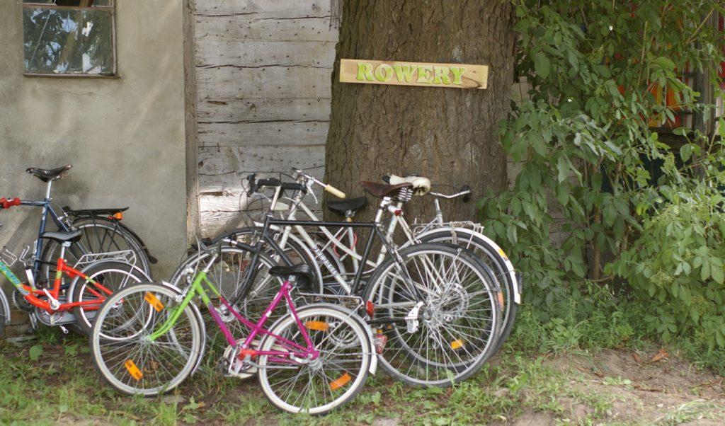 i żaden rower nie był przypięty